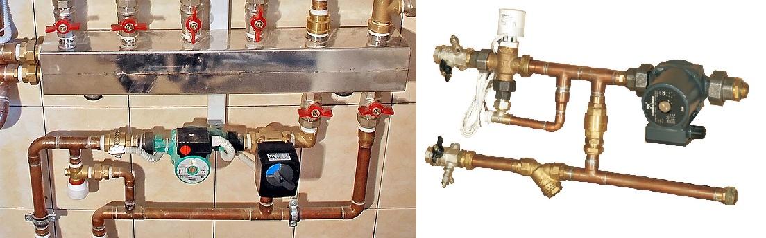 Система отопления узел смесительный в частном доме своими руками 43