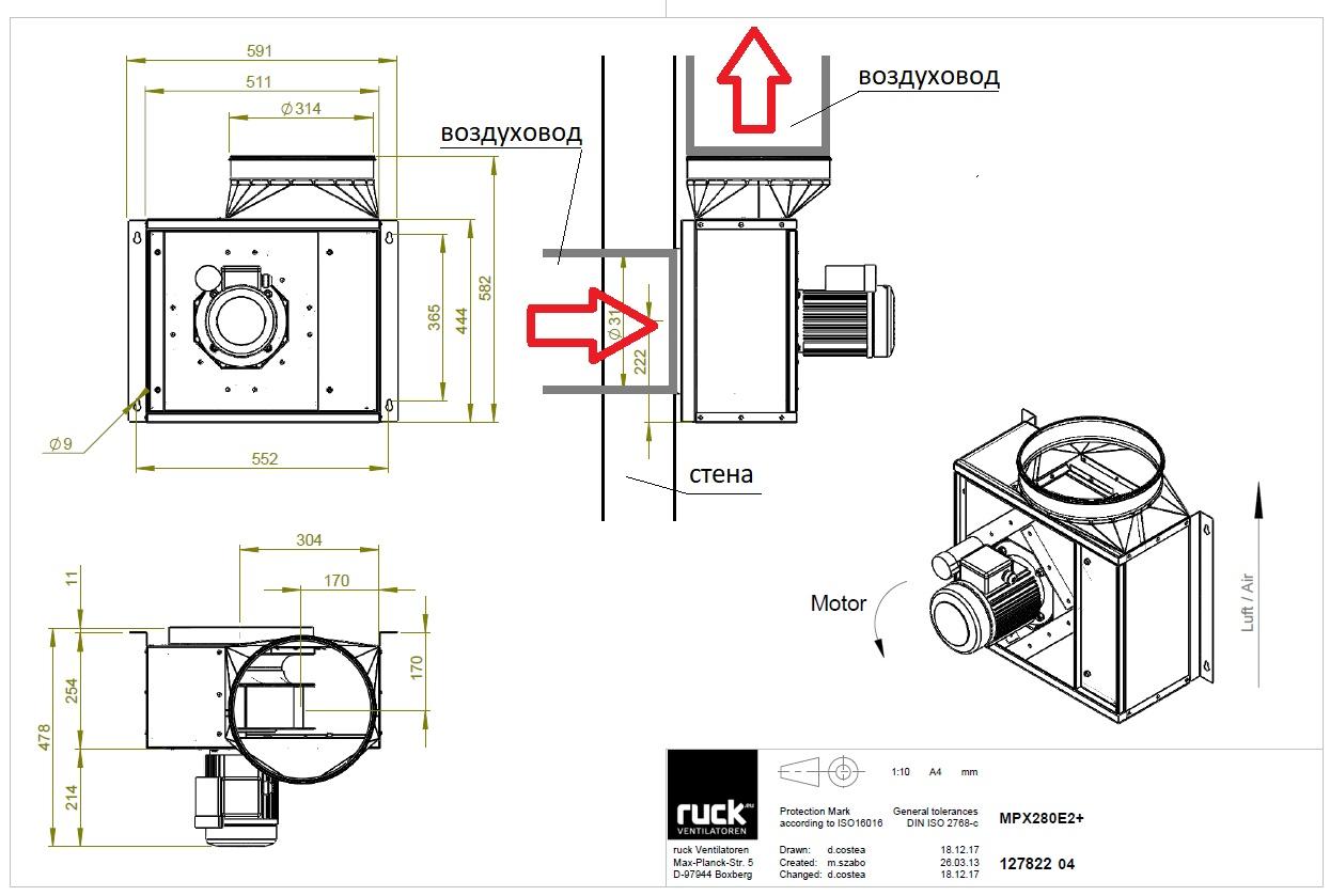 Кухонный вентилятор MPХ